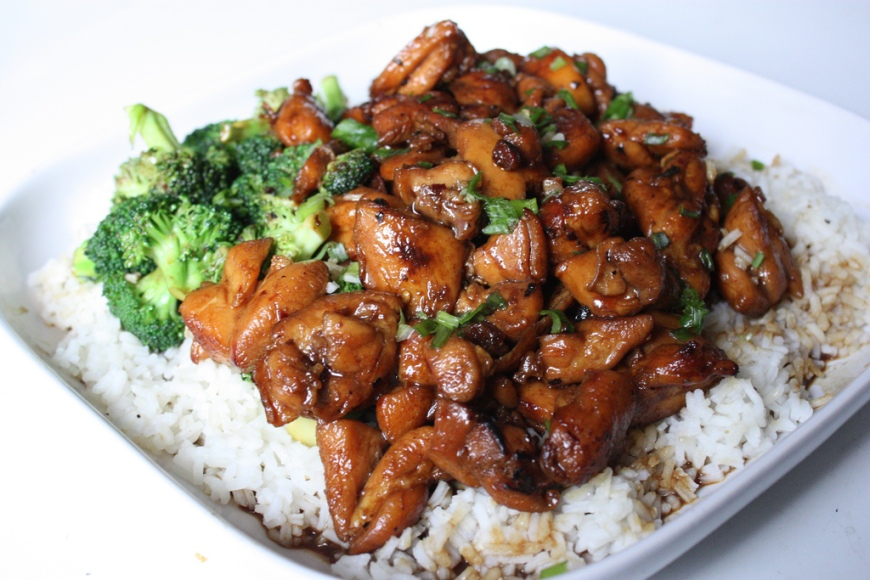 Lemon Teriyaki Glazed Chicken