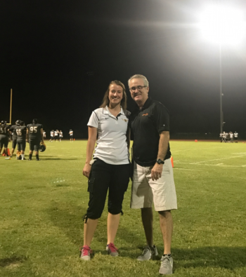 John Neel and Rhianna MacDonald at Salt River High School Football Game
