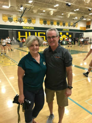 John Neel and Horizon Volleyball Coach Valorie McKenzie