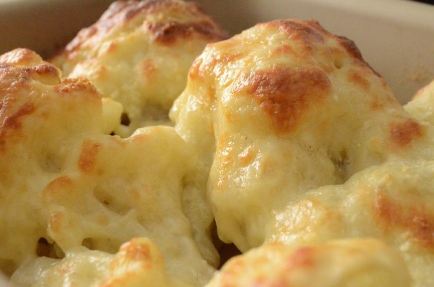 Baked Cauliflower Parmesean Cheese
