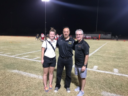Rihanna MacDonald, Dr. David Carfagno, John Neel at Salt River High School Friday Night Football