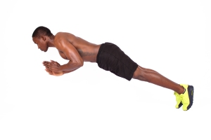 Fitness-man-doing-clap-push-ups