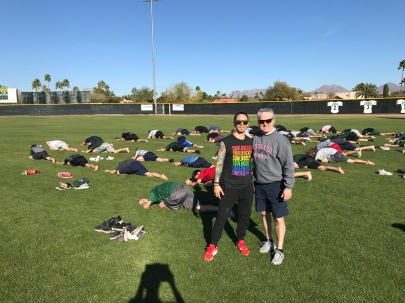 John Neel and Anton Mackey Horizon Baseball Yoga Program
