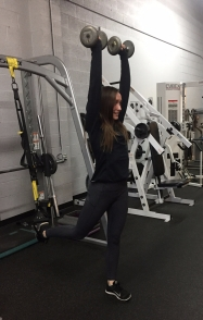 TRX Single Leg Squat to Press to Curl to Press